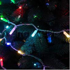 Гирлянда Нить 10м, 100 LED, цвет: RGB. свечение с динамикой  (при использовании контроллера), 230 В