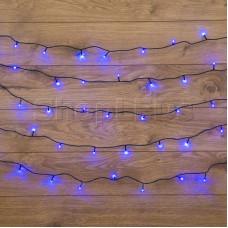 Гирлянда Твинкл Лайт 4 м, темно-зеленый ПВХ, 25 LED, цвет: Синий