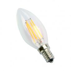 E14-5W-4000K Лампа LED (Свеча прозрачная Филомент)