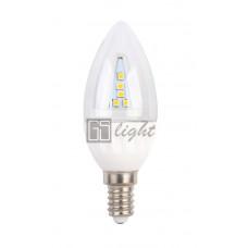 Светодиодная свеча C37-II E14 4.5W 220V Warm White ПРОЗРАЧНАЯ